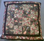 Quilt cushion cover made by Mrs Brenda White. Photo by her niece Jane Ayres
