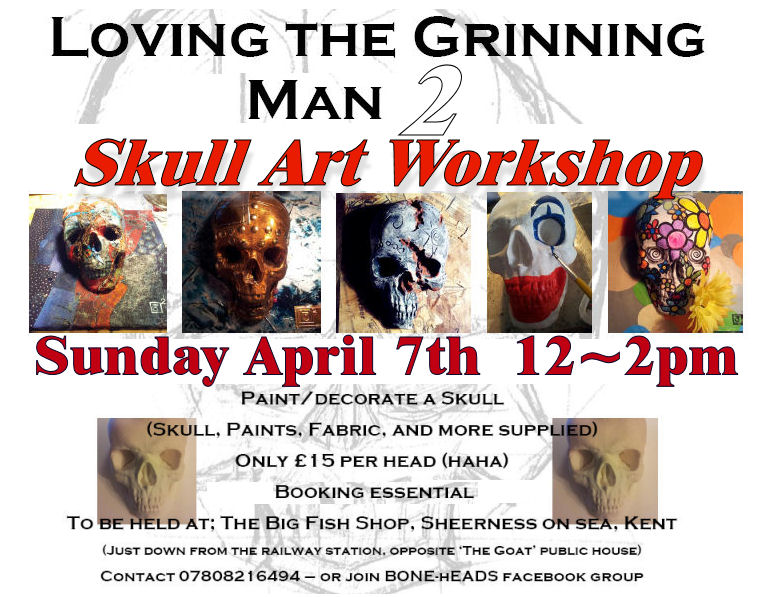 Skull Art Workshop - 7th April - Sheerness On Sea