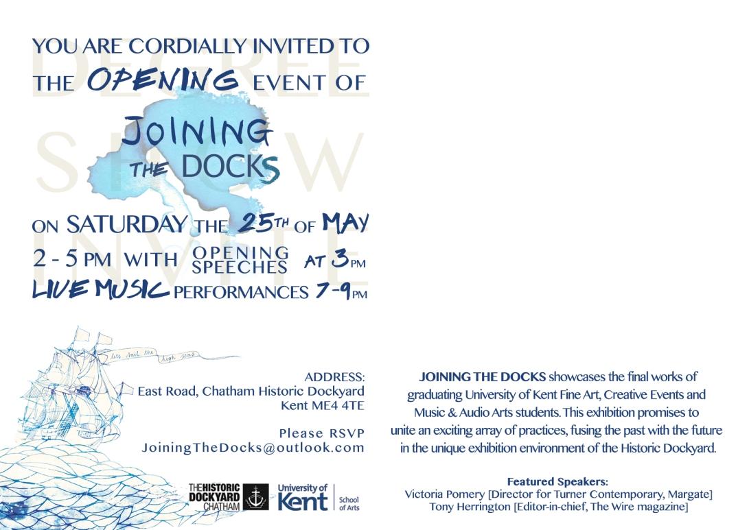degree show - back invite
