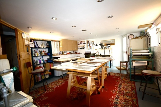 The Hazelnut Press studio - part of The Ridley Road Group