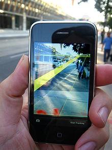 Author: Glogger 13 July 2009 http://en.wikipedia.org/wiki/File:MediatedReality_on_iPhone2009_07_13_21_33_39.jpg