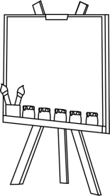 easel-black-white