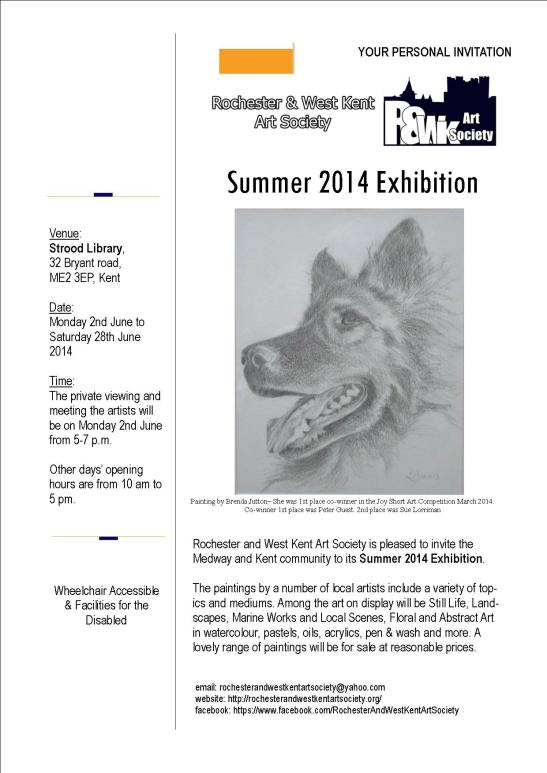 Flyer Summer 2014 Exhib- Strood Library