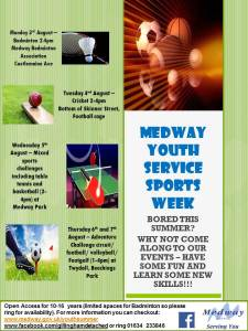 Medway Youth Service Sports Week