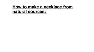 How to make a necklace 1