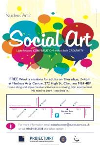 Social Art flyer May 17