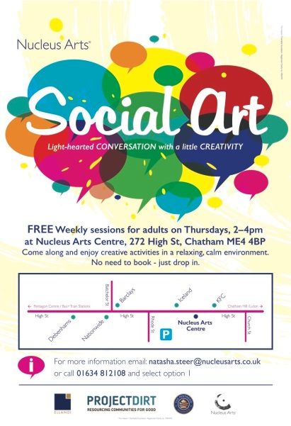Social Art flyer May 17